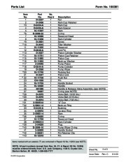 SPX OTC 1807 60299 014 00133 Floor Crane Assembly Owners Manual page 5