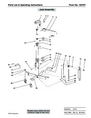 SPX OTC 1728 014 00942 Lift Table High Lift Transmission Jack Max Capacity 1000 Lbs Owners Manual page 3