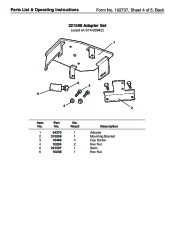 SPX OTC 1728 014 00942 Lift Table High Lift Transmission Jack Max Capacity 1000 Lbs Owners Manual page 8