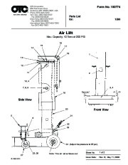 SPX OTC 1590 Lift Table Air Lift Owners Manual page 1