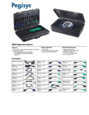 Pegisys 3825 Diagnostic System Software Catalog page 1