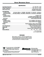 Robinair SPX Digital Digital RefRigerator Gauge Owners Manual page 2