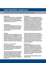 Emerson Copeland Semi Hermetic Compressor Catalogue page 8