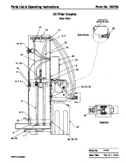 SPX OTC 1896 Oil Filter Crusher Max Capacity 25ns Parts List page 3
