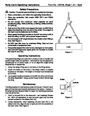 SPX OTC 1805 1806 Positioning Slings Max Capacity 2000 Lbs 909 Kg Load Rotor Owners Manual page 2