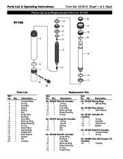 SPX OTC 9104A 9110A Hydraulic Cylinders Owners Manual page 2