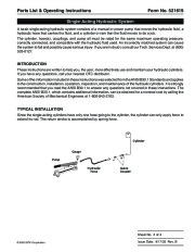SPX OTC 9104A 9110A Hydraulic Cylinders Owners Manual page 3