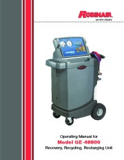 Robinair SPX GE 48800 Recovery Recycling Recharging Unit Owners Manual page 1