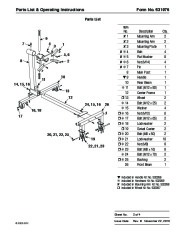SPX OTC 2010A Lift Table Engine Stand Owners Manual page 3