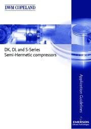 Emerson Copeland DK DL S Series Semi Hermetic Compressor Manual page 1