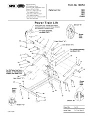 SPX OTC 1585 1586 1587 61933 Power Train Lift Owners Manual page 1