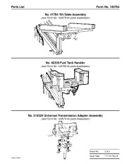 SPX OTC 1585 1586 1587 61933 Power Train Lift Owners Manual page 3