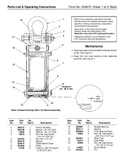 SPX OTC 1822 Load Rotor 10000 Lbs Owners Manual page 2