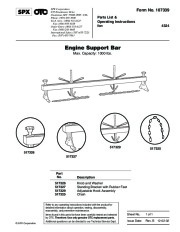 SPX OTC 4324 Engine Support Bar Max Capacity 1000 Lbs 517329 517326 517327 517325 517326 517327 517329 517325 Owners Manual page 1