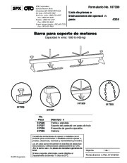 SPX OTC 4324 Engine Support Bar Max Capacity 1000 Lbs 517329 517326 517327 517325 517326 517327 517329 517325 Owners Manual page 3
