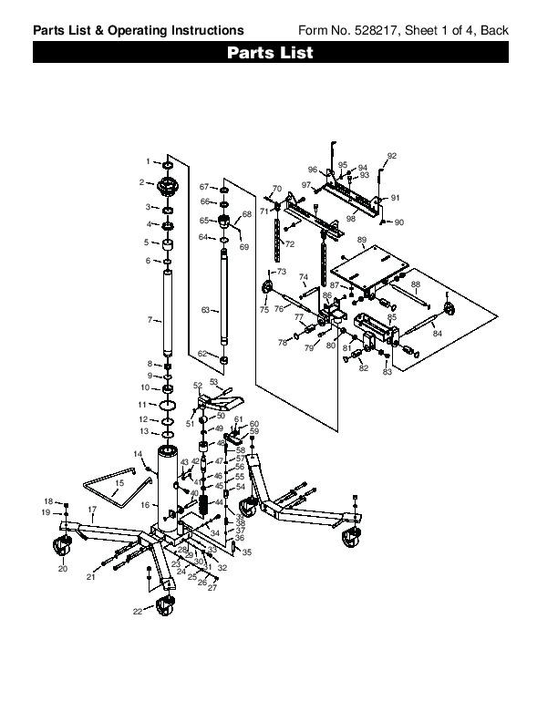 Otc Motorcycle Lift : Spx otc lift table high transmission jack owners