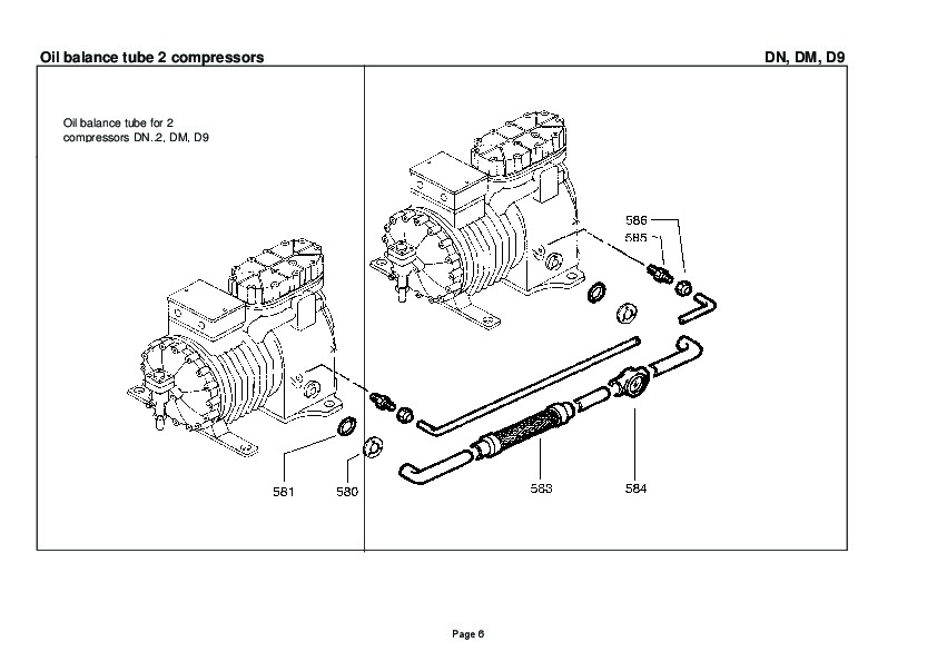 emerson copeland spare parts list dn dm d9 compressor