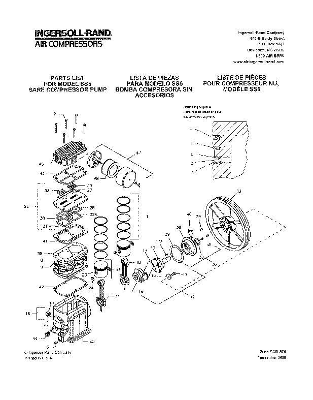 ingersoll rand ss3 ss5 air compressor owners manual rh power tool filemanual com ingersoll rand 185 cfm air compressor service manual ingersoll rand 375 air compressor service manual