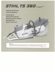 STIHL TS 360 Cut Off Saw Miter Circular Saw Owners Manual page 1