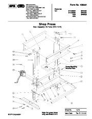 SPX OTC 014 00084 SPA256 014 00085 SPE256 1833 SPM256 1834 Shop Press Owners Manual page 1